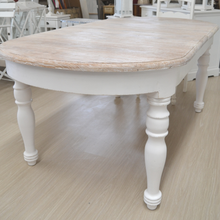 Tavolo ovale shabby chic mobili provenzali on line for Tavoli on line