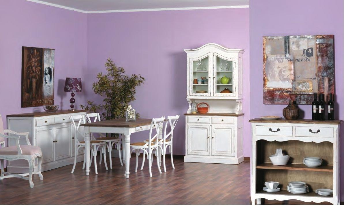 Tavolo bianco shabby chic mobili provenzali on line - Dipingere cucina legno ...