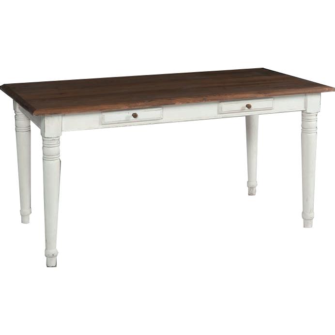 Tavolo bianco shabby chic mobili provenzali on line for Tavolo bianco e legno