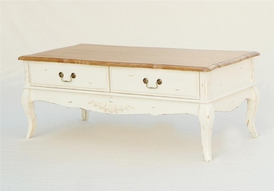 Tavolo basso legno Shabby Chic - Mobili Provenzali On Line