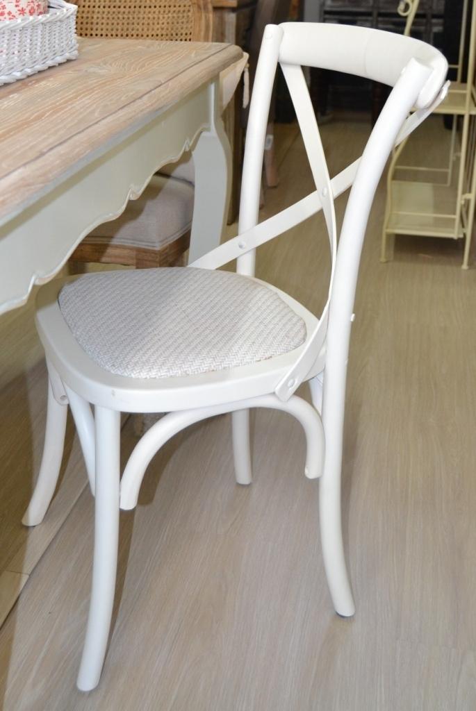 Sedia legno shabby chic mobili provenzali on line for Sedie shabby chic ikea