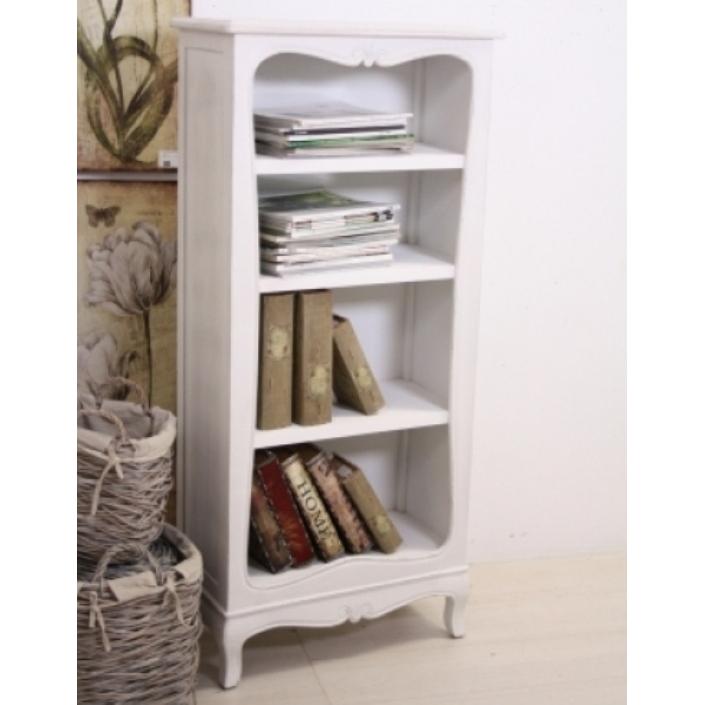 Libreria legno bianca provenzale   mobili provenzali on line