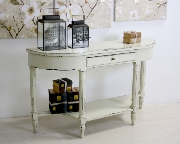 Consolle legno bianco shabby chic mobili provenzali on line - Siti mobili on line ...
