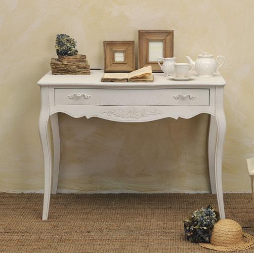 Consolle scrivania bianca provenzale mobili provenzali for Consolle bianca