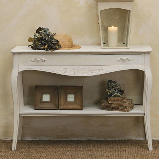 Consolle legno bianco mobili provenzali on line - Mobili legno bianco anticato ...