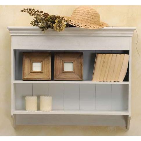 Mensole e pensili shabby chic mobili provenzali on line for Mensole legno bianco