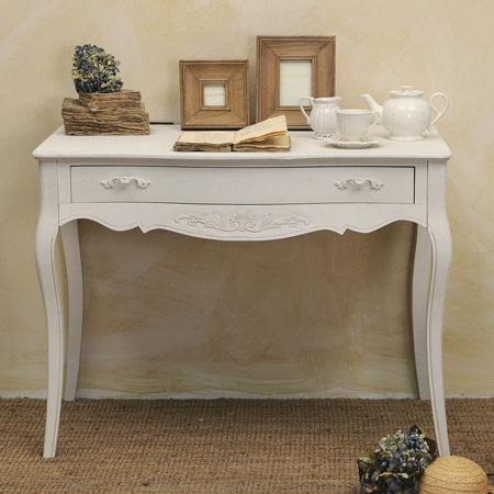 Consolle legno bianca provenzale mobili provenzali on line for Mobili a poco prezzo online