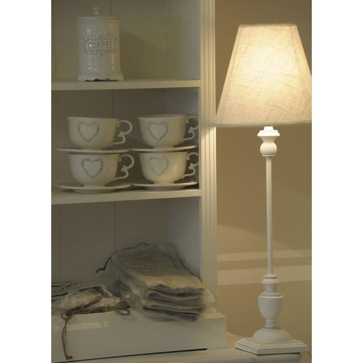 Lampada bianca legno Provenzale - Mobili Provenzali On Line