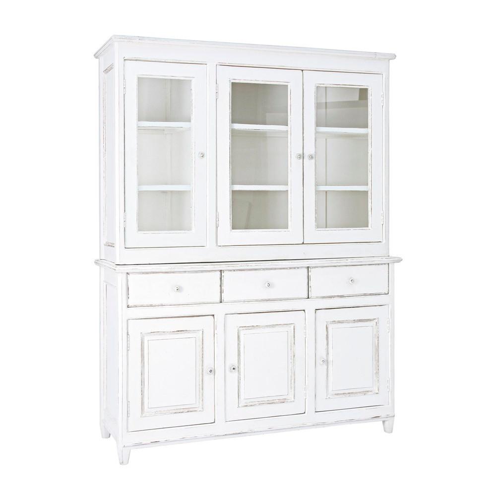 Vetrina legno bianca shabby chic mobili provenzali on line - Siti mobili on line ...