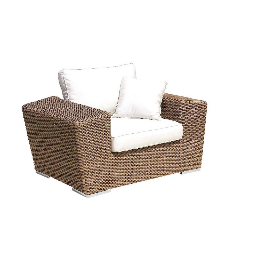 Poltrona da giardino rattan sintetico mobili provenzali for Poltrona giardino