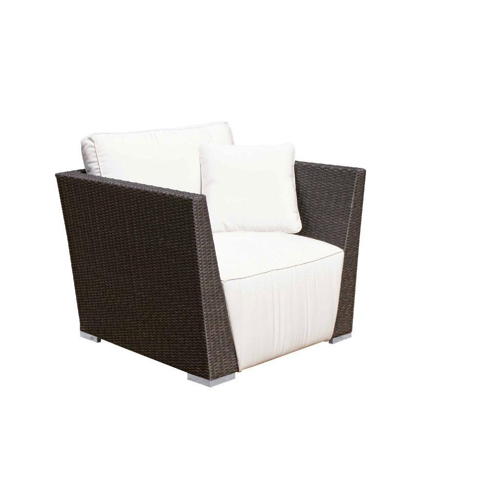 Poltrona da esterno rattan sintetico mobili provenzali for Poltrona giardino