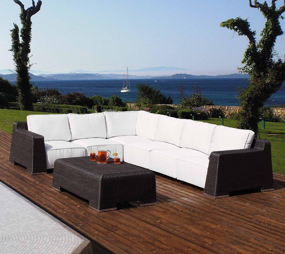 Tavolo basso da giardino rattan sintetico mobili for Mobili giardino rattan sintetico