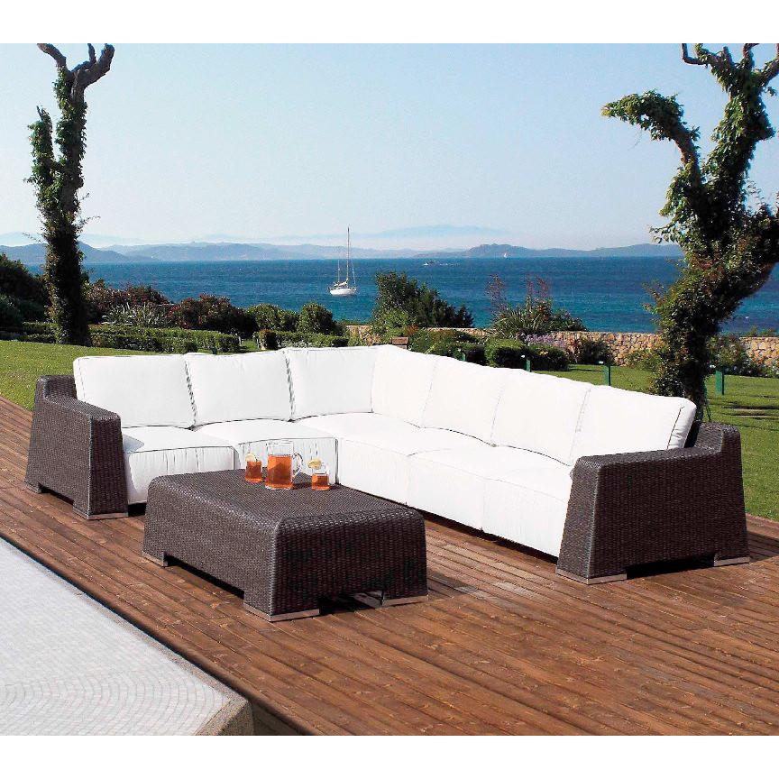 Tavolo basso da giardino rattan sintetico mobili - Rattan giardino ...