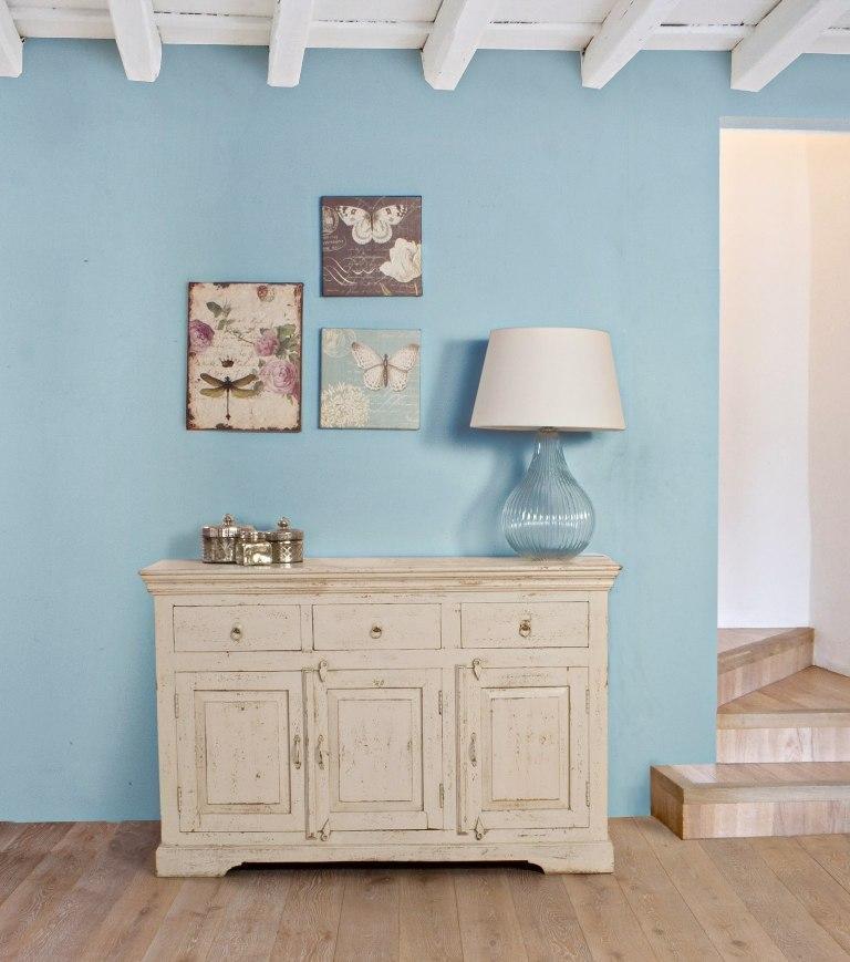 Buffet legno shabby chic mobili provenzali on line - Mobili legno bianco anticato ...