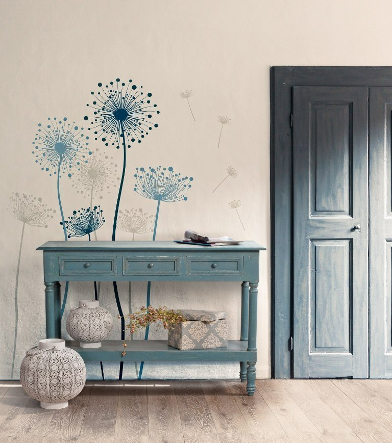 Consolle legno blu shabby chic mobili provenzali on line for Mobili shabby chic
