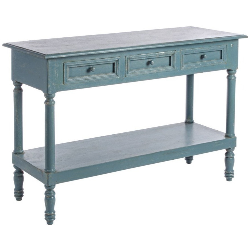 Consolle legno blu shabby chic mobili provenzali on line for Consolle shabby chic