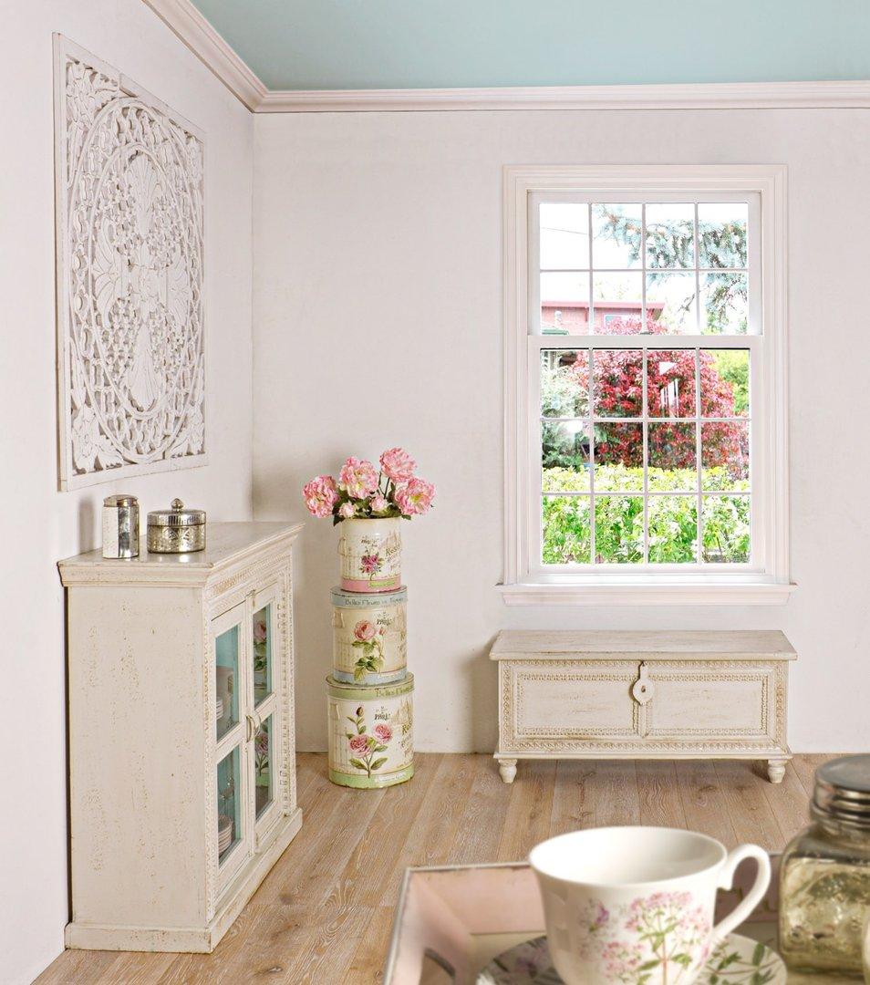 Vetrinetta bianca shabby mobili provenzali on line for Shabby chic on line