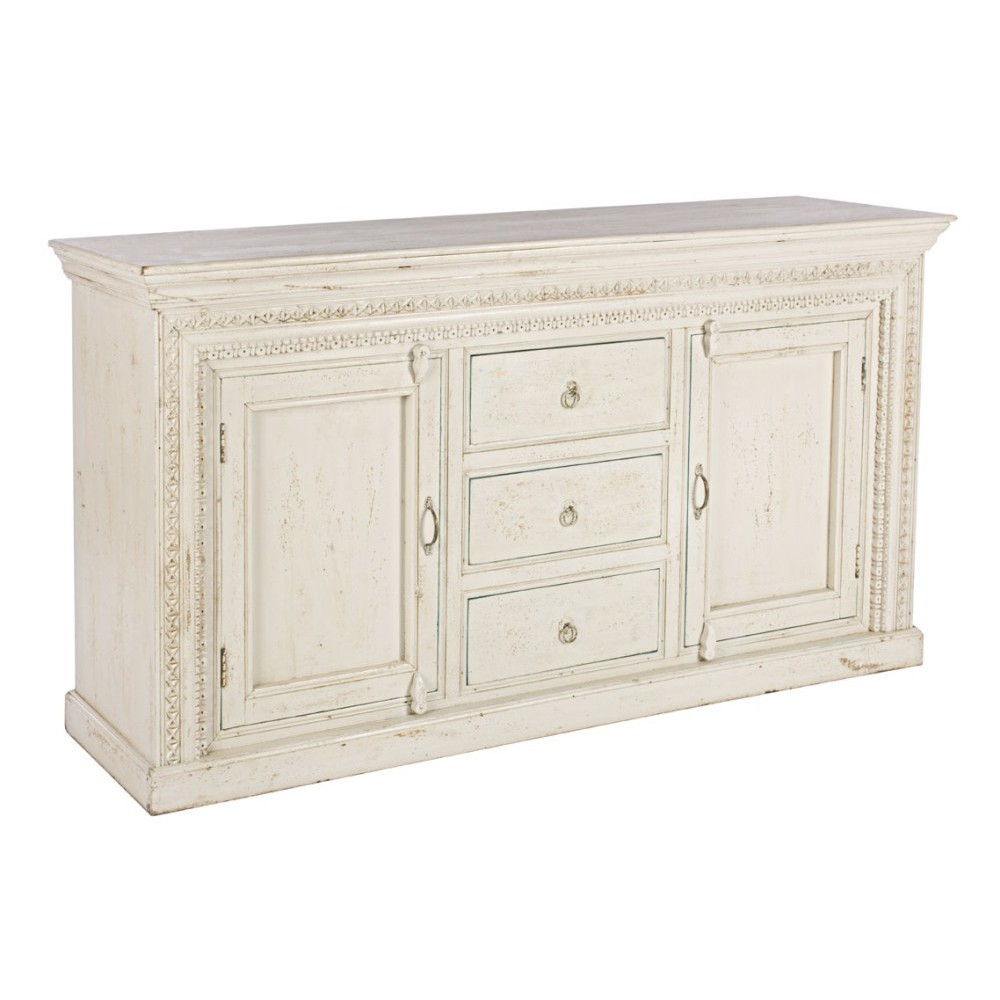 buffet legno bianco shabby chic mobili provenzali on line. Black Bedroom Furniture Sets. Home Design Ideas