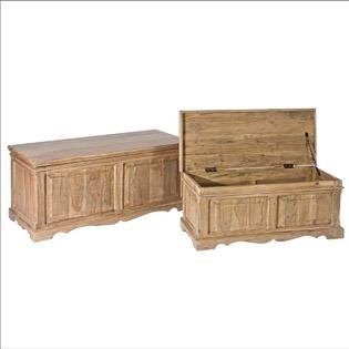 Set 2 cassapanche country chic mobili provenzali on line for Cassapanche legno