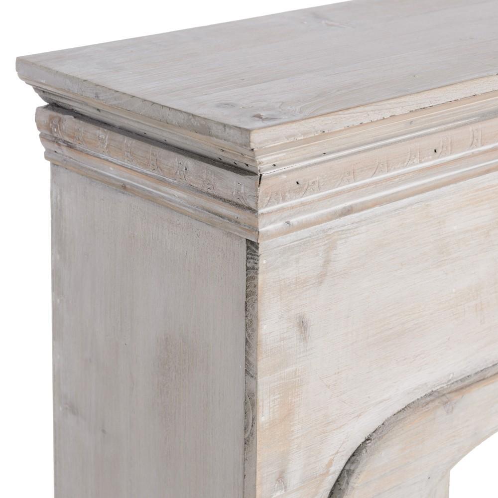 Cornice camino legno decapato mobili provenzali on line for Cornice camino ikea