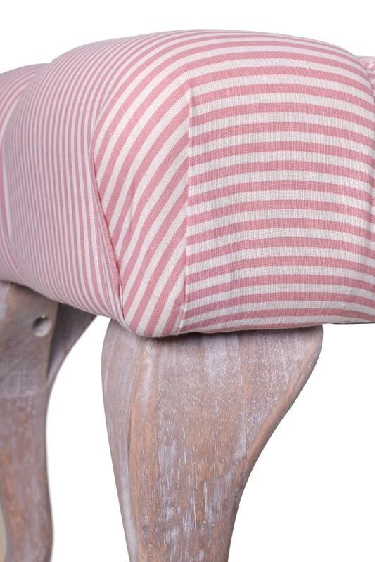 Panca imbottita Vintage rosa - Mobili Provenzali On Line