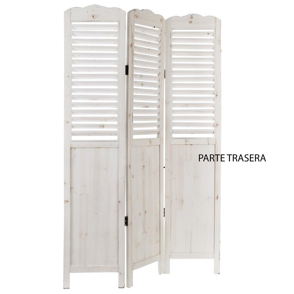 Paravento legno bianco mobili provenzali on line - Mobili legno bianco anticato ...