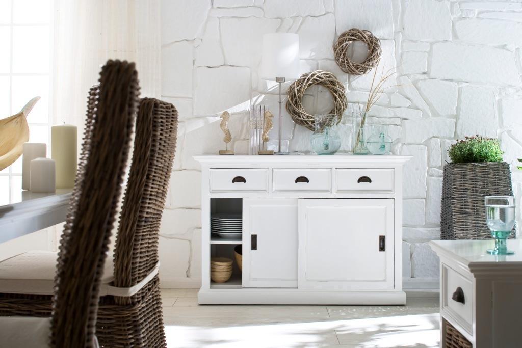 Credenza Bianca Con Ante Scorrevoli : Credenza legno bianco mobili provenzali on line