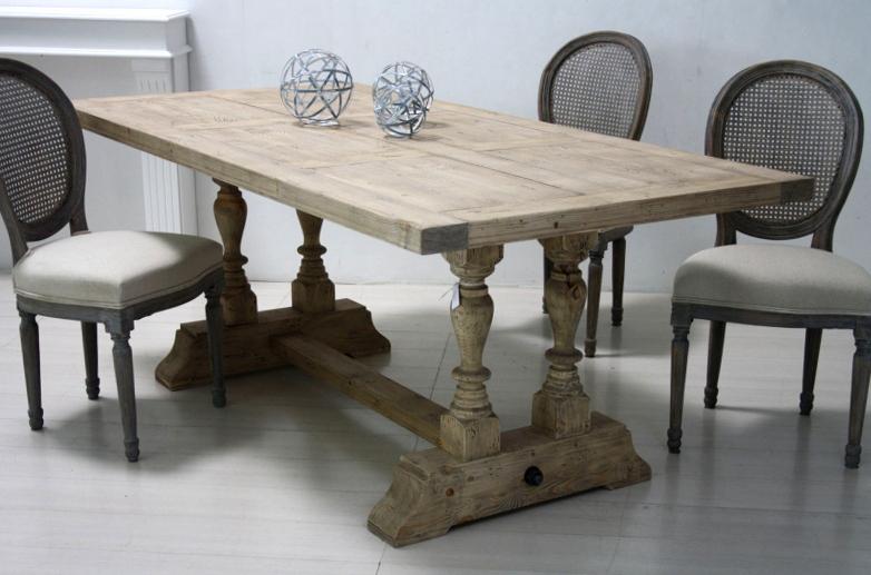 Tavolo legno naturale shabby mobili provenzali e shabby on line - Tavolo legno naturale ...