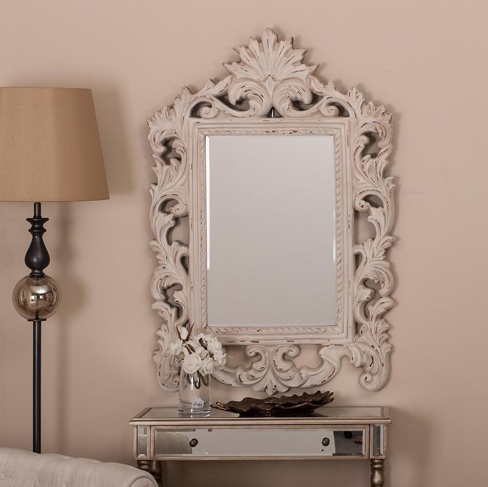 Specchio shabby bianco mobili provenzali on line - Specchio bianco ...