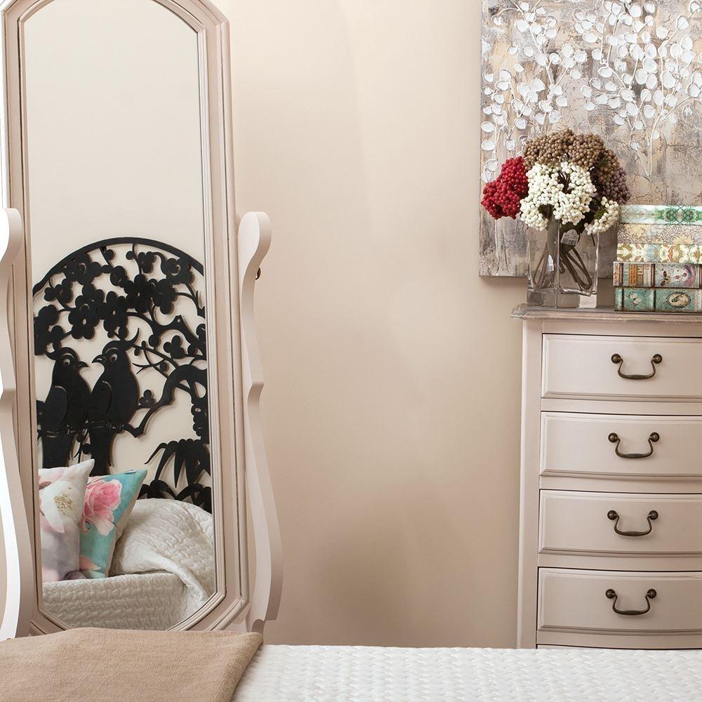 Specchio alto romantico legno mobili provenzali on line - Specchio romantico riflessi prezzo ...