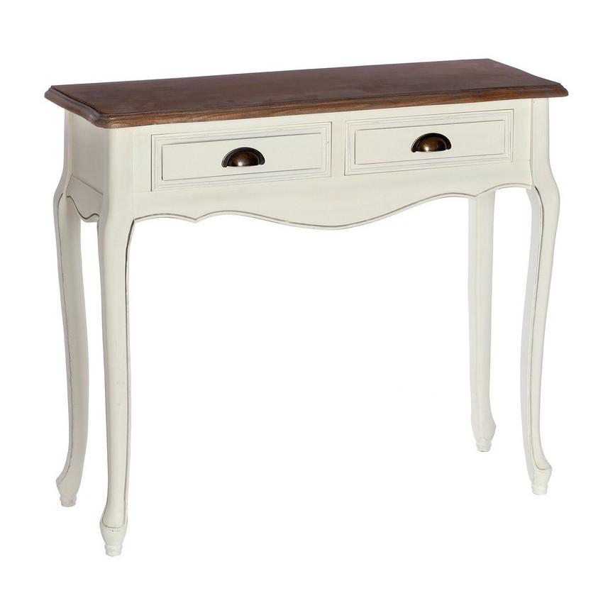 Consolle bianca legno naturale mobili provenzali on line for Consolle legno