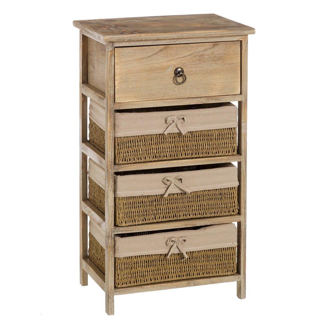 Cassettiera legno naturale mobili provenzali on line for Cassettiera legno