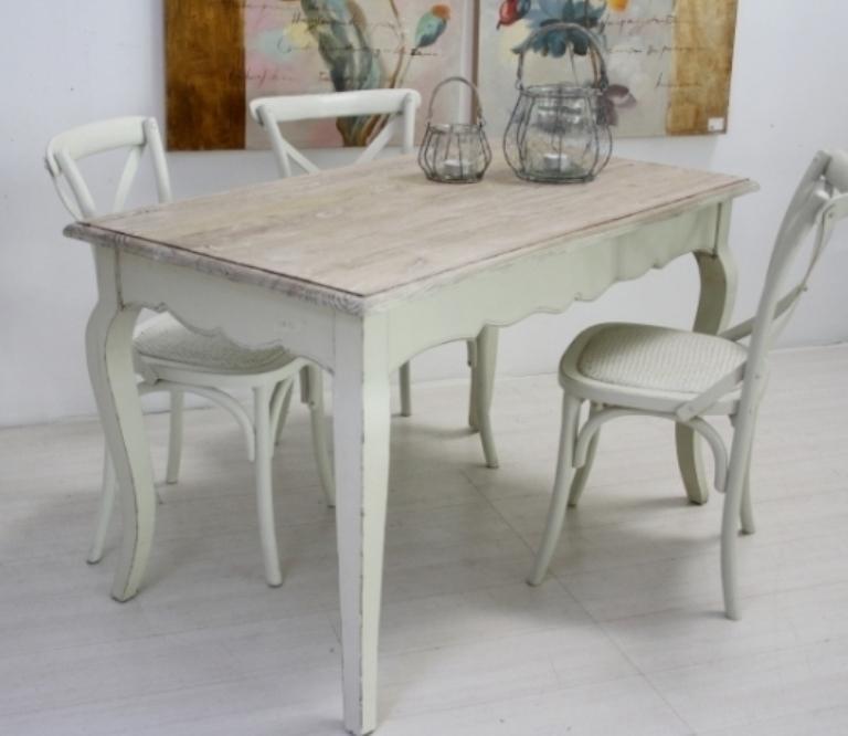 Tavolo legno fisso bianco - Mobili Provenzali On Line