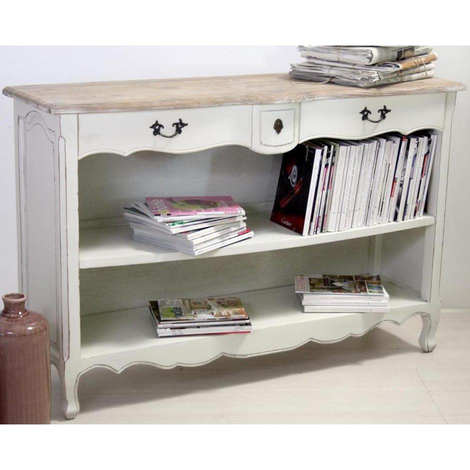 Consolle libreria legno shabby chic mobili provenzali for Consolle shabby chic