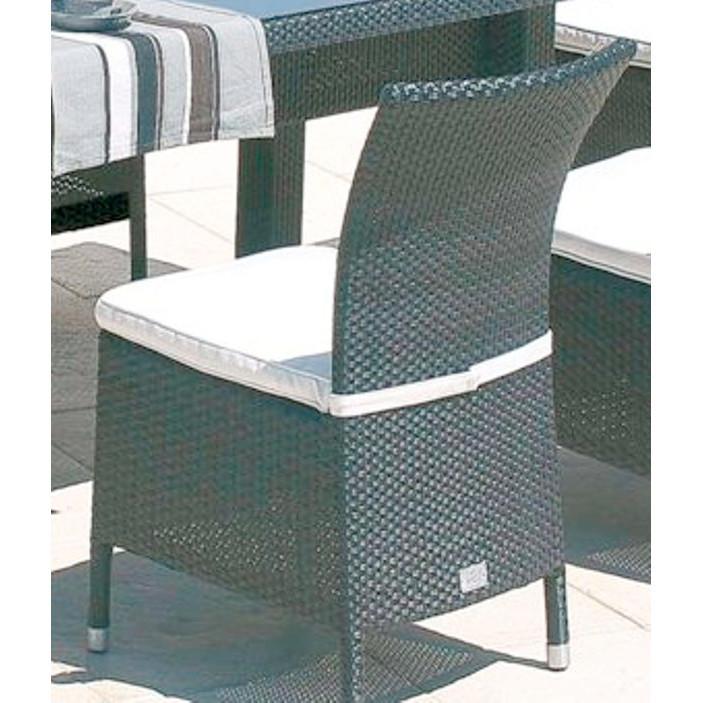 Sedia outdoor rattan sintetico mobili provenzali on line for Poltrona rattan sintetico