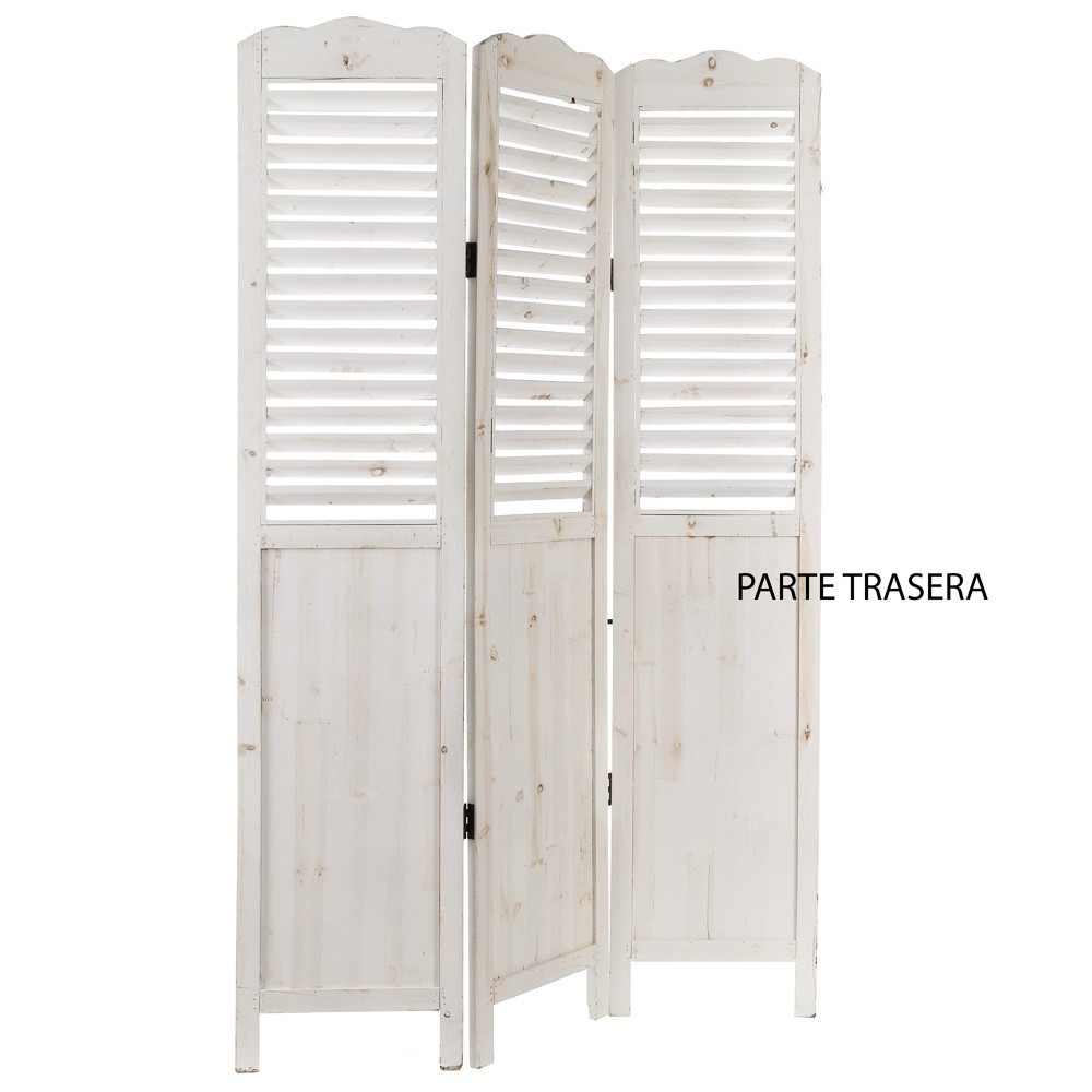 Paravento legno bianco mobili provenzali on line for Mobili legno bianco anticato